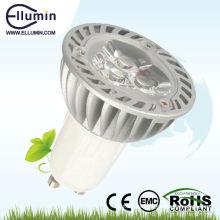 Poder más elevado GU10 3W LED lámpara