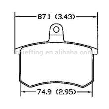 Auto pièces détachées D306 0060 743 565 pour plaquette de frein auto Audi Fiat