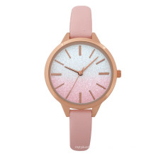 New style ladies watch with fashion alloy case pu strap can custom logo