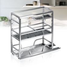 High quality stainless steel kitchen drawer basket for spice