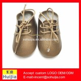 Alibaba top products unique popular gold color Soft sole leather moccasin shoes baby oxford shoes with kids shoes