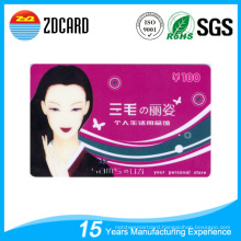 Plastic PVC Gift Card for Market