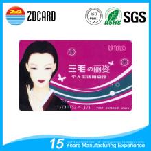 Cartão de presente de PVC plástico para mercado