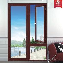 Ventanas de aluminio de la más alta calidad de encargo de la fábrica, serie francesa de la ventana del oscilación del estilo