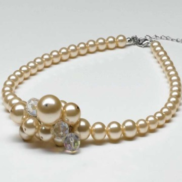 Charm Chunky Pearl Bead Necklace