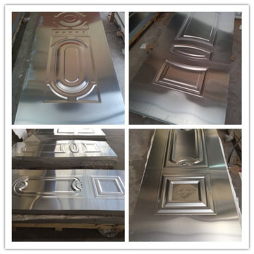 piel de la puerta de hdf de acero estampado de seguridad