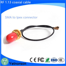 CE Rohs RF1.13 Cable de antena IPEX / UFL a SMA hembra