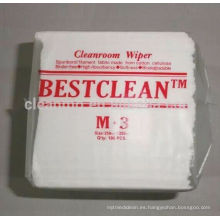 Cleanroom Wiper M3, Poliester viscosa respetuoso del medio ambiente M3 Cleanroom Wiper, 25cm * 25cm, 100pcs / bag, 30bags / carton
