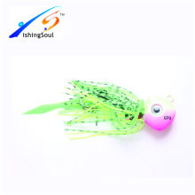 RJL015 Fishing bait unpainted lure jigging lure rubber jig
