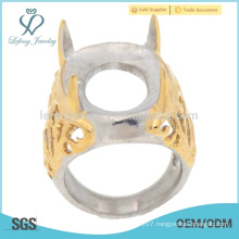 Special style yellow gold full finger indnesia little rings hot sale