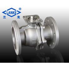 Válvula de Esfera de Flange Flutuante de Alta-Plataforma de Aço Inoxidável 2PC