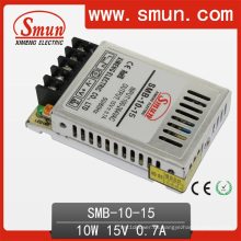 10W 15V 0.7A caja de plástico ultrafina fuente de alimentación conmutada