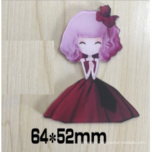 Beautiful Girl Brooch Wear a Skirt