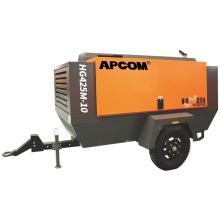 10bar 110kw 150HP portable screw air compressor diesel 425 cfm HG425M-10
