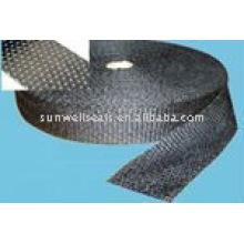 Fita de fibra de carbono revestida com alumínio