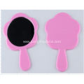 Personalized Logo Handle Pocket Mirrors - Flower Shaped