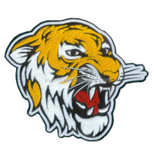 Animierter Tiger Tierkopf Filz Chenille Patch