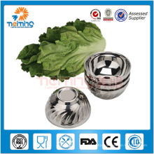 wholeale Korean patterned stainless steel rice bowl