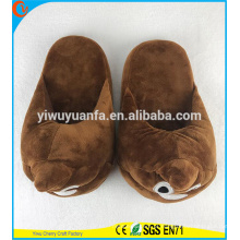 Hot Sell Novelty Design Loud Ripper Plush Emoji Slipper sem salto