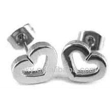 Boucles d'oreilles magnétiques en forme de coeur en acier inoxydable pour filles