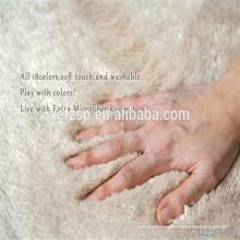 Tapis de table rond 100% polyester microfibre pur soie Tapis de sol 100% polyester microfibre absorbant