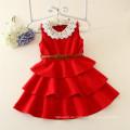 hochwertige einteilige Kinder Mädchen Party Kleid Kinder Winter Kleider Modell geschwollene Designs