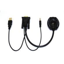 Cable VGA + Audio + USB a HDMI (YLC0301)