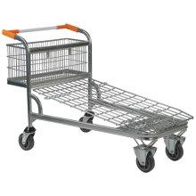 Carro de empuje manual para compras con 4 ruedas
