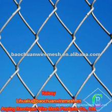 Galvanized old chain link fence sports fence