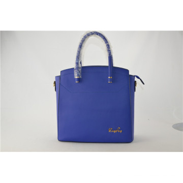 Blue Color Oil Wax Leisure Design Vintage Real Leather Handbag