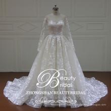 XF16157 le plus récent design de robe de mariée robe de mariée 2017 manches longues robes de mariée de mode pour mariage