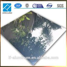 1060 H18 0.8mm Espesor hojas de aluminio reflectante, hoja de espejo de aluminio pulido para la decoración