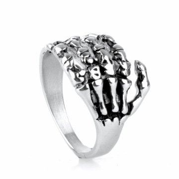 Osobowość hurtowa The Skeleton Hand Men's Skull Ring