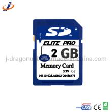 Карточка памяти SD реальной емкости 2GB SD