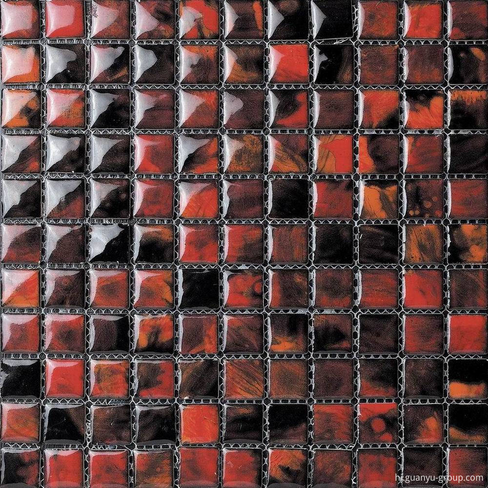 Dark Color Glazed Transforming Mosaic Tile