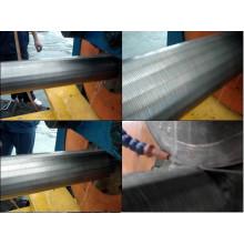 Tubo del filtro / máquina de la soldadura de la pipa de la pantalla del alambre de la cuña