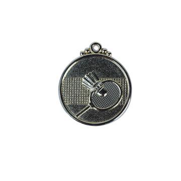 Medalha personalizada do badminton do logotipo 3D personalizado