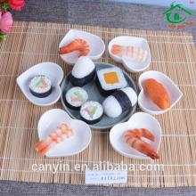 Taobao alta qualidade sushi coração forma prato / cerâmica prato