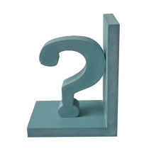 Questionmark Antique Bookend para Desk Organize