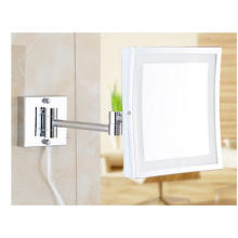 Promotioanl Square LED Makeup Mirror, Folded European Creative Beauty Mirror