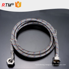J10 knitted stainless steel flexible hose for wash basins inlet hose water pipe Stainless steel double head braided hose
