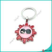 Mode Sonnenblume Emaille Schlüsselanhänger (KC)