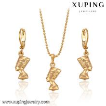 63804-guangzhou fashion imitation jewelry 18k gold character jewelry sets