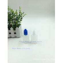 IS08317 и SGS Сплюснутый 15мл 30мл электронной жидкости бутылки с крышкой доказательства шпалоподбойки и шпалоподбойки кольцо