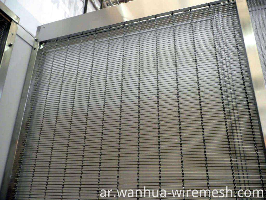 Staniless steel wire rope and bar decorative mesh