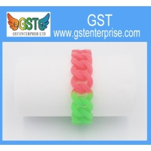 Colorful Embossed Silicone Bracelets