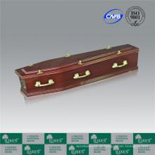 Papel de Sapele folheado caixão