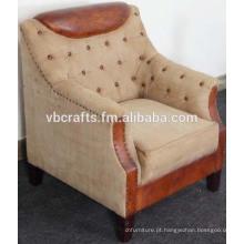 Sofá de couro de lona sofá design europeu