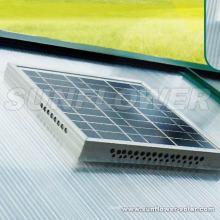 Ventilador solar del sótano con el termóstato
