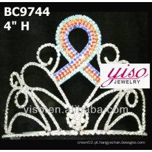 Tiara de coroa de luxo e jóias